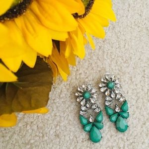 T&J DESIGNS Seafoam Green Drop Statement Earrings